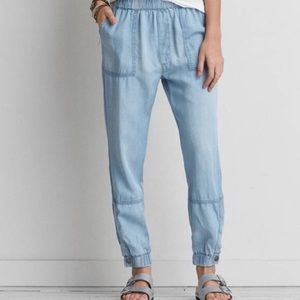 American Eagle Outfitters AEO Chambray Joggers
